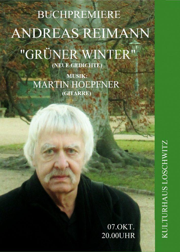 Buchpremiere Gruener Winter.