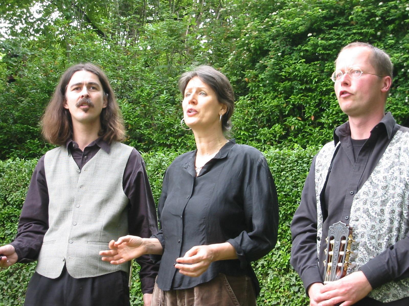 Sommerfest des Göschenhauses in Grimma 2005 mit Ilona Schlott und Thomas Prokein