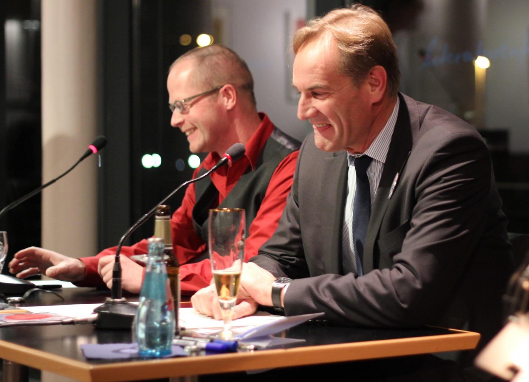 """Präsentation der Hörbuch CD """"Worte sind Boote"""" mit OB Burkhard Jung 2011"""