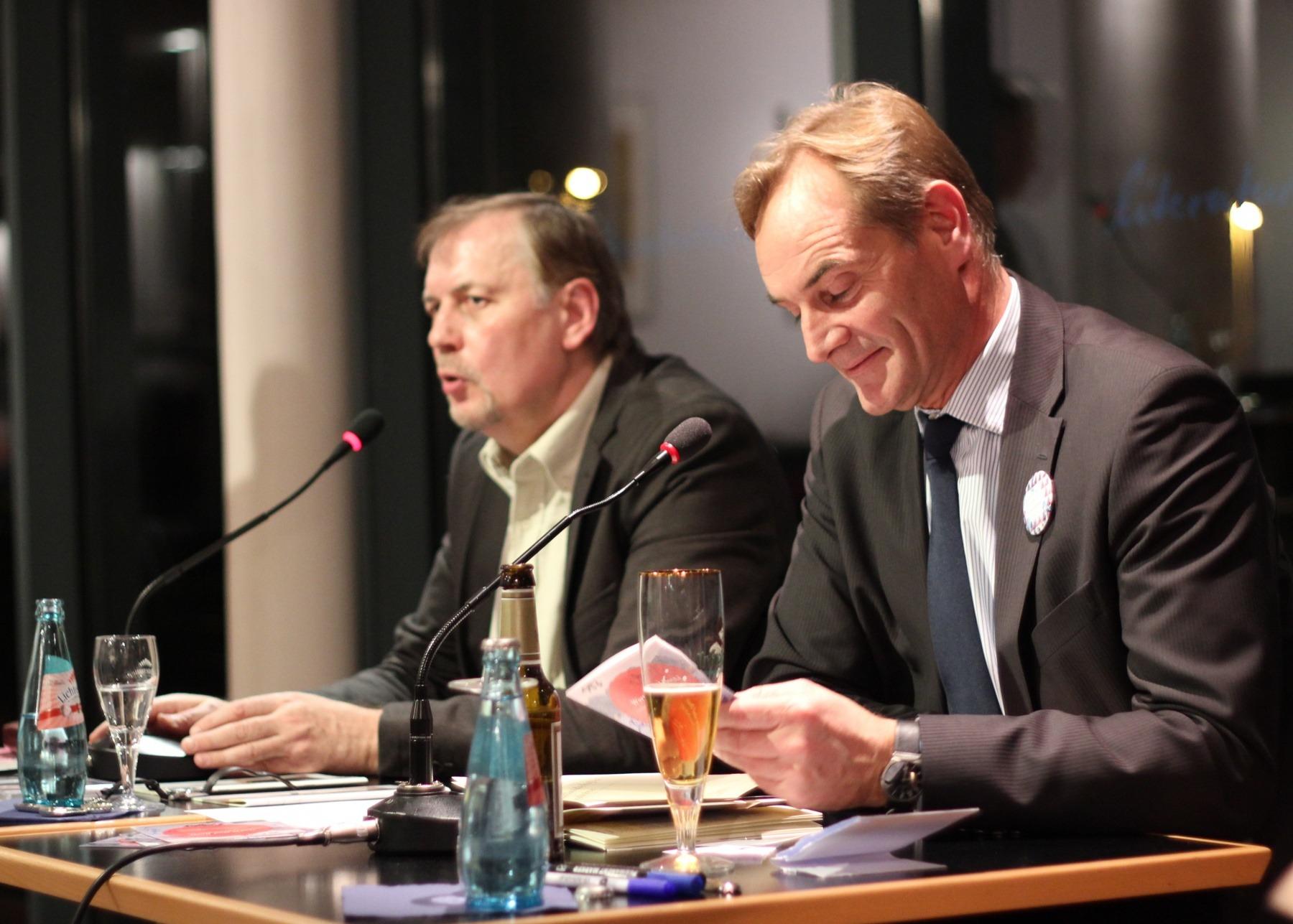 "Präsentation der Hörbuch CD ""Worte sind Boote"" Ralph Grüneberger mit OB Burkhard Jung 2011"